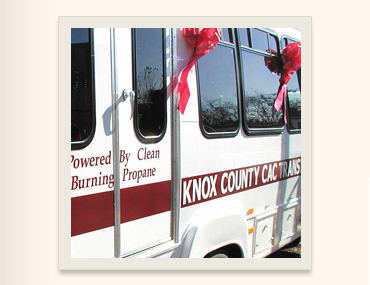 Detail of Knox CAC van